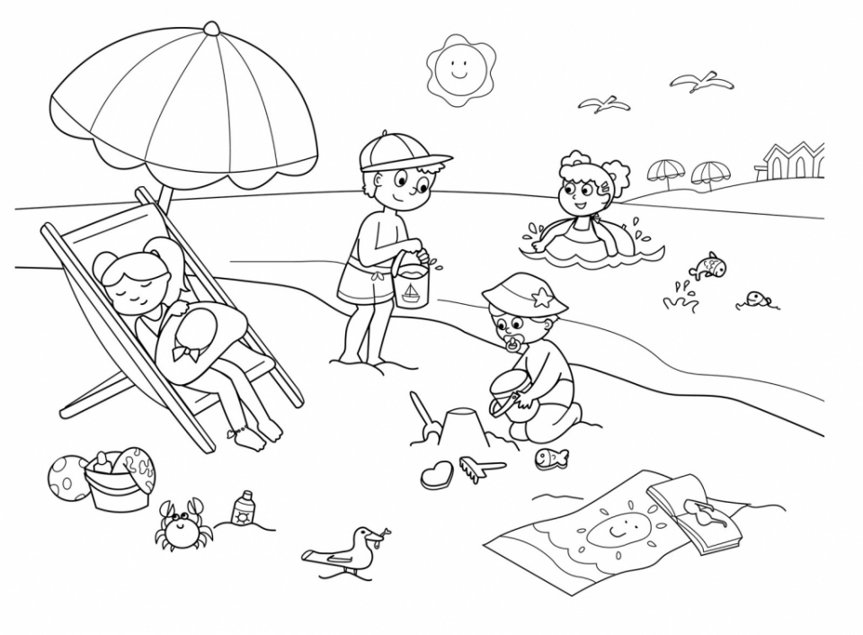 Summer coloring pages online summer coloring pages free for kids 38144
