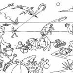 Online Summer Coloring Pages Free for Kids   74009