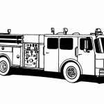 Preschool Printables of Fire Truck Coloring Page Free   37209
