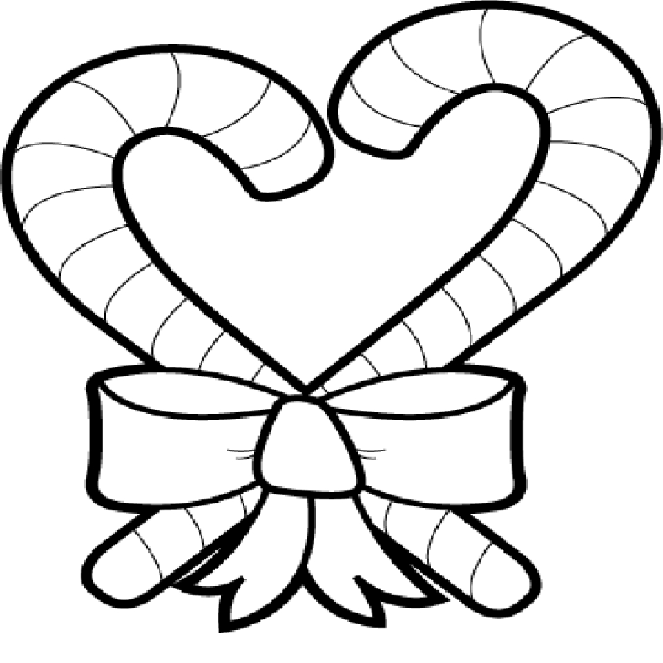 Get This Printable Candy Cane Coloring Page For Kids 5177