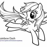 Rainbow Dash Coloring Pages Printable for Kids   18637