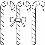 Simple Candy Cane Coloring Page to Print for Preschoolers   65979
