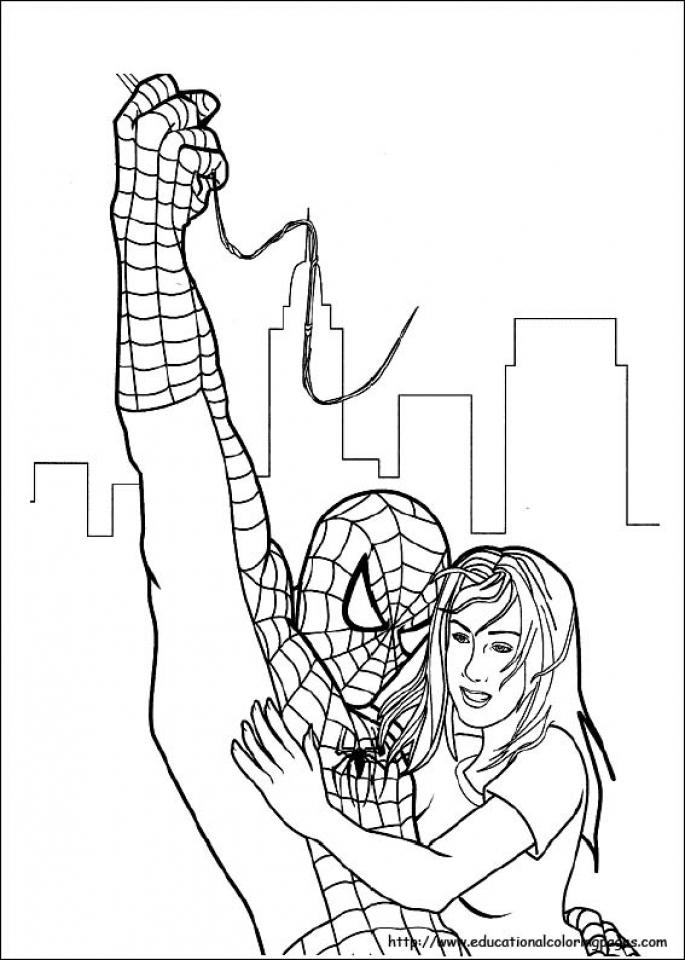 Spiderman Marvel Superhero Coloring Pages Printable   8724