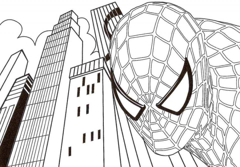 20 free printable spiderman coloring pages for Spiderman coloring page printable