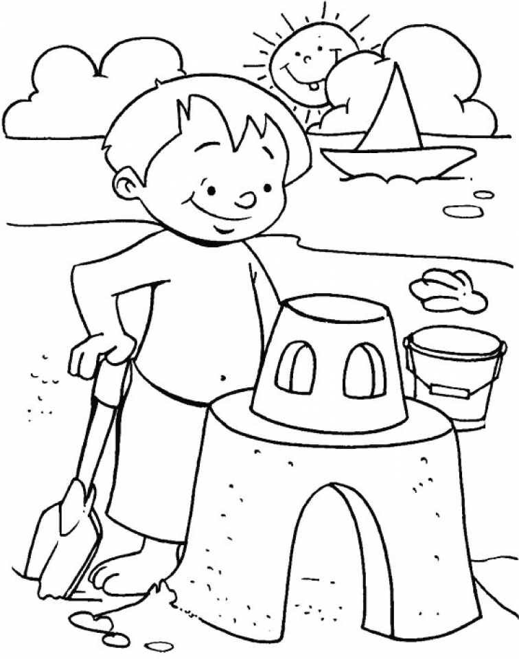 Get This Summer Coloring Pages