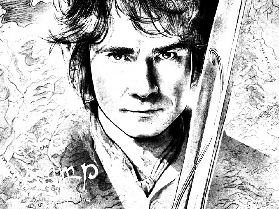 The Hobbit Coloring Pages   6731