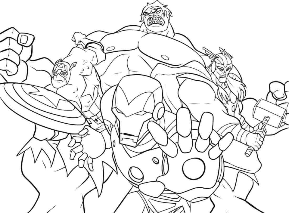 20 Free Printable Avengers Coloring Pages