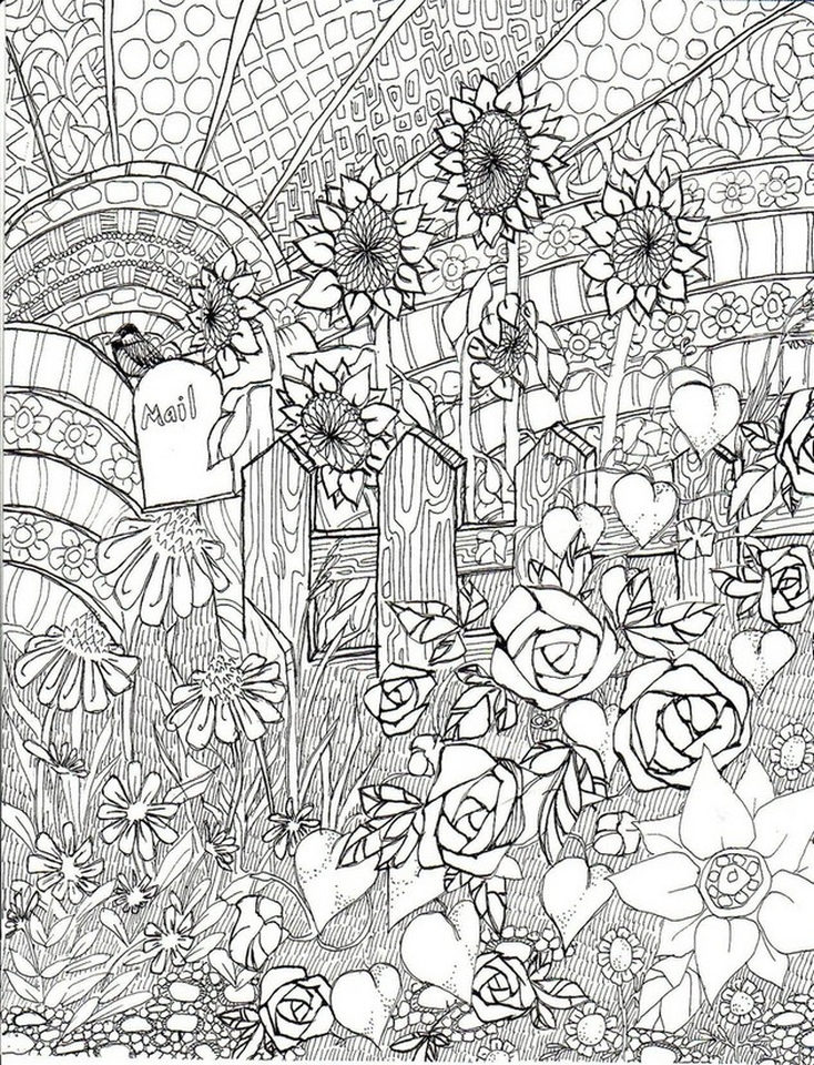 Get This Free Adults Printable Of Summer Coloring Pages