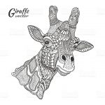 Giraffe Coloring Pages for Adults Zentangle Art - 88912