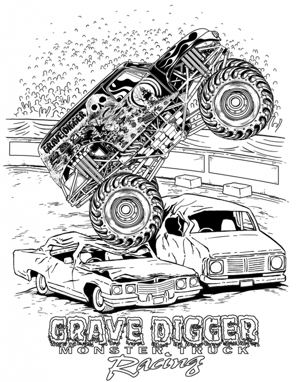 Get this grave digger monster truck coloring pages for Grave coloring pages