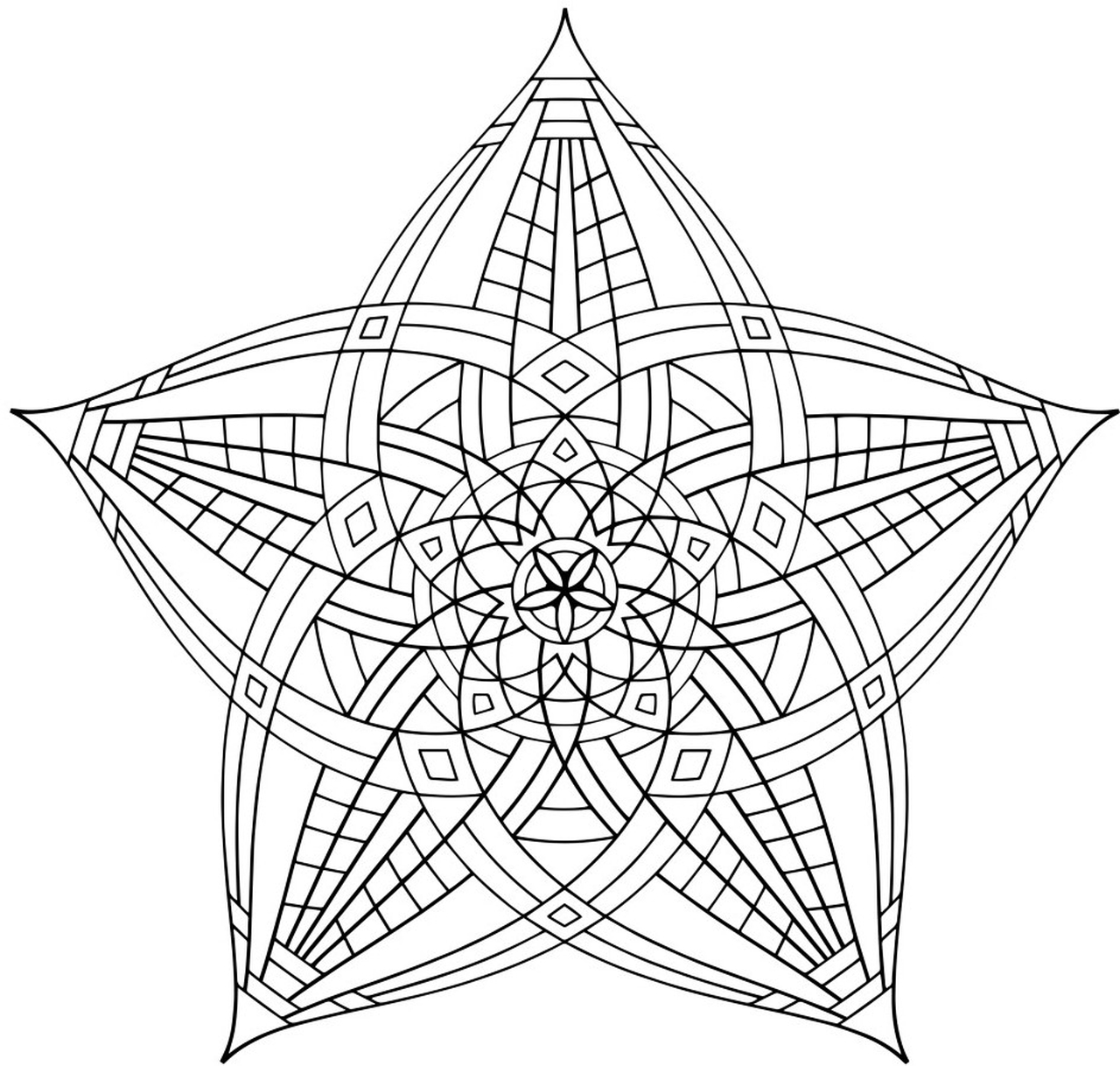 Hard Geometric Coloring Pages To Print Out 15739 on Summer Connect The Dots