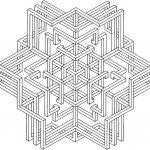 Hard Geometric Coloring Pages to Print Out - 45168
