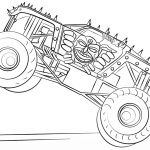 MAX D monster truck coloring page - 74901