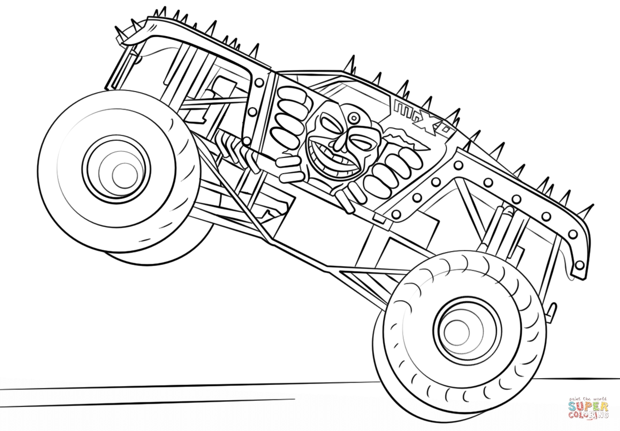 Get This MAX D Monster Truck Coloring Page