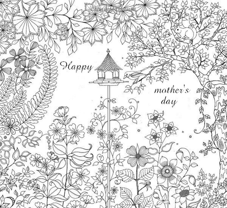 Get this mother 39 s day coloring pages for adults printable for Mothers day adult coloring pages