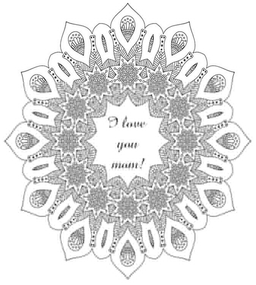 Get Mother Day Coloring Pages Adults Printable