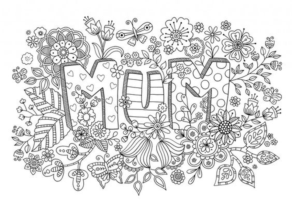 Motheru0027s Day Coloring Pages For Adults