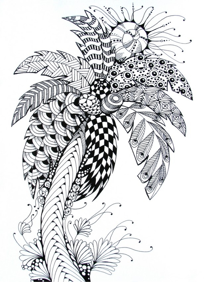 Get this online summer printable coloring pages for adults for Summer coloring pages for adults