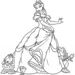 Princess Belle Girls Coloring Pages to Print Online - 46291