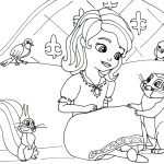 Princess Sofia the First Coloring Pages to Print Out for Girls - 78201