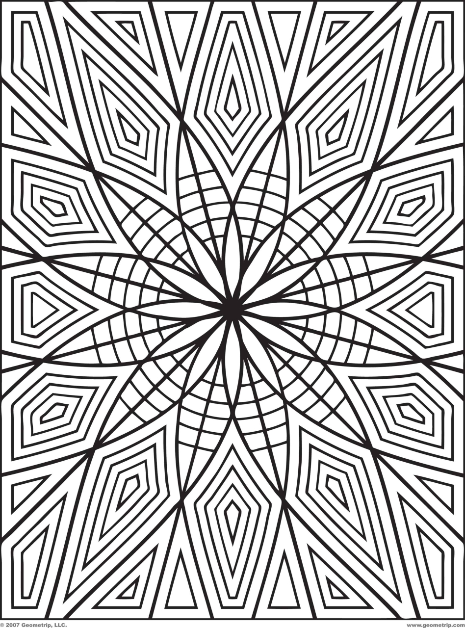 Coloring Pages For Adults Unicorns - Geometric coloring pages