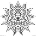 Printable Geometric Coloring Pages for Adults - 45192