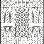 Printable Geometric Coloring Pages for Adults - 53419