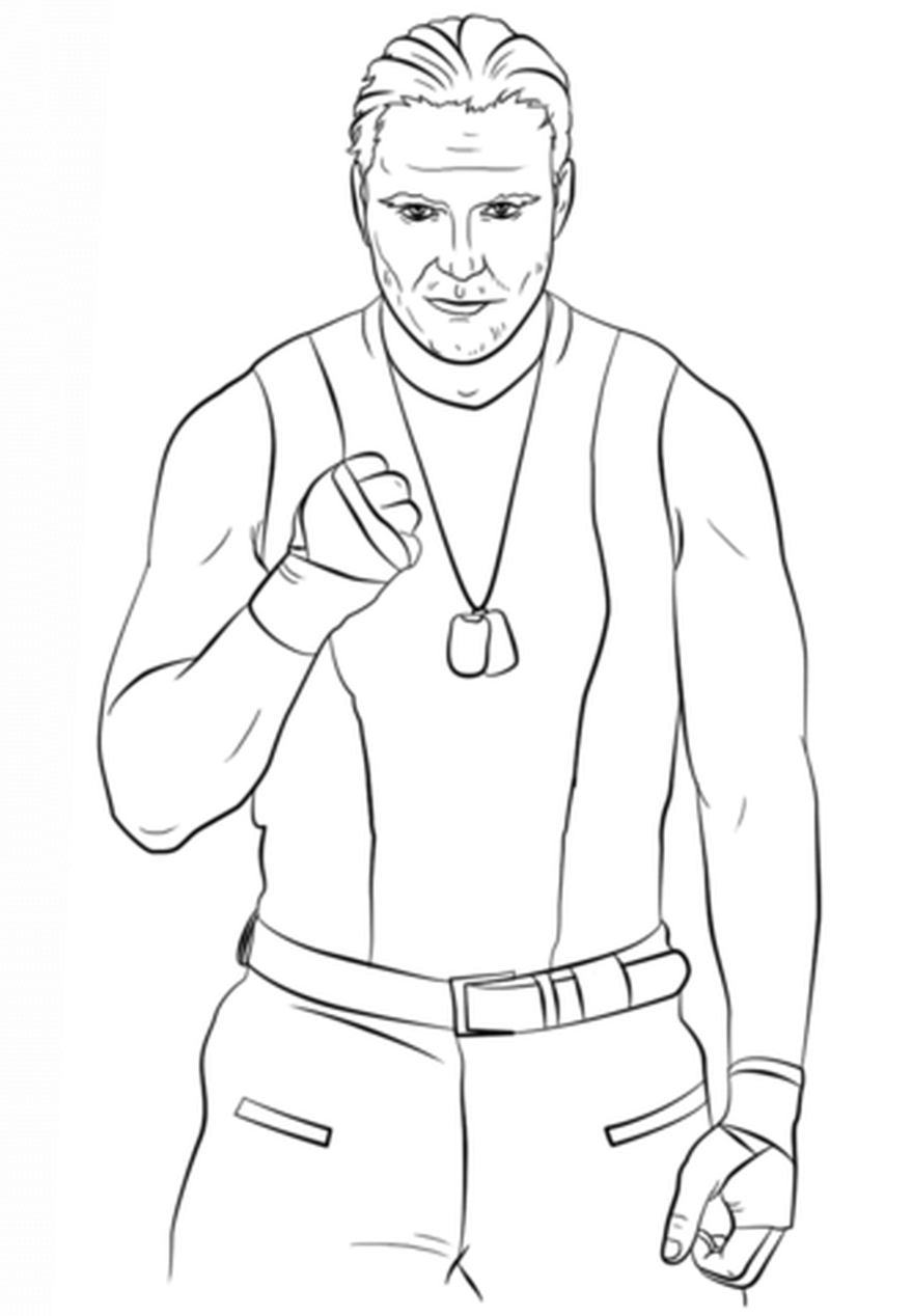 Get This Printable wwe coloring pages dean ambrose - 31850