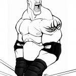 Printable wwe coloring pages goldberg - 21957