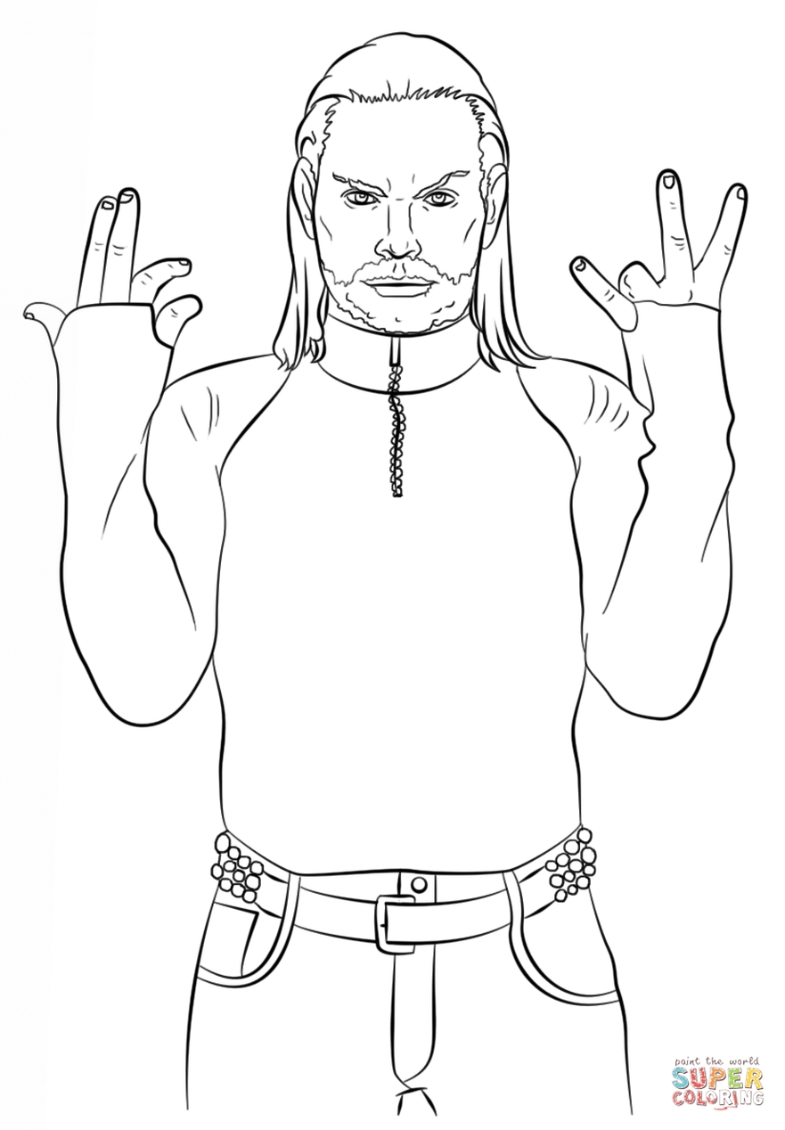 get this printable coloring pages jeff hardy 54891
