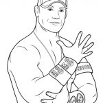 Printable wwe coloring pages john cena - 31902