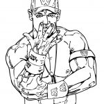 Printable wwe coloring pages john cena - 42971