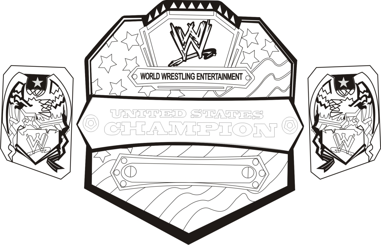 Get This Printable wwe coloring pages of belts - 32717