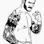 Printable wwe coloring pages randy orton - 67209