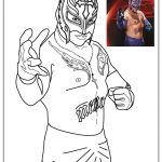 Printable wwe coloring pages rey mysterio - 31189