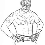 Printable wwe coloring pages rey mysterio - 77116