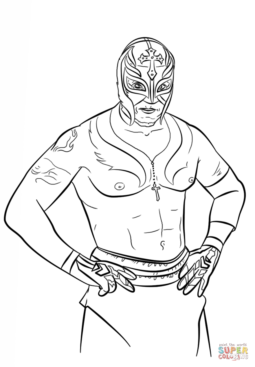 Get This Printable wwe coloring