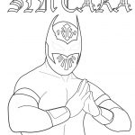Printable wwe coloring pages sin cara - 31906