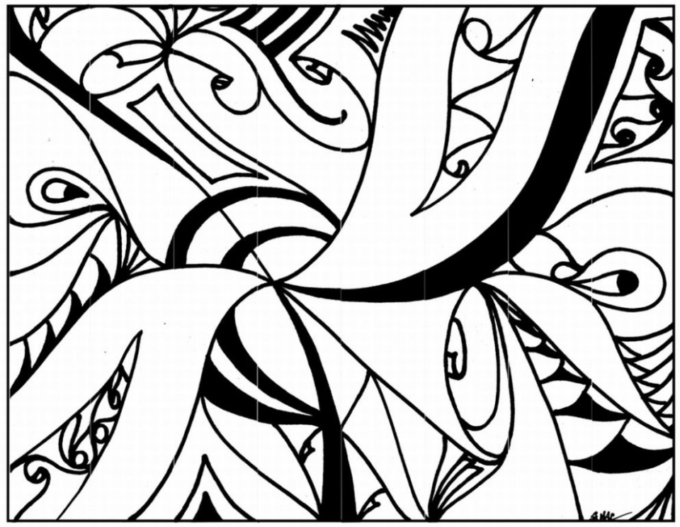 Get This Abstract Coloring Pages to Print for Grown Ups 94128
