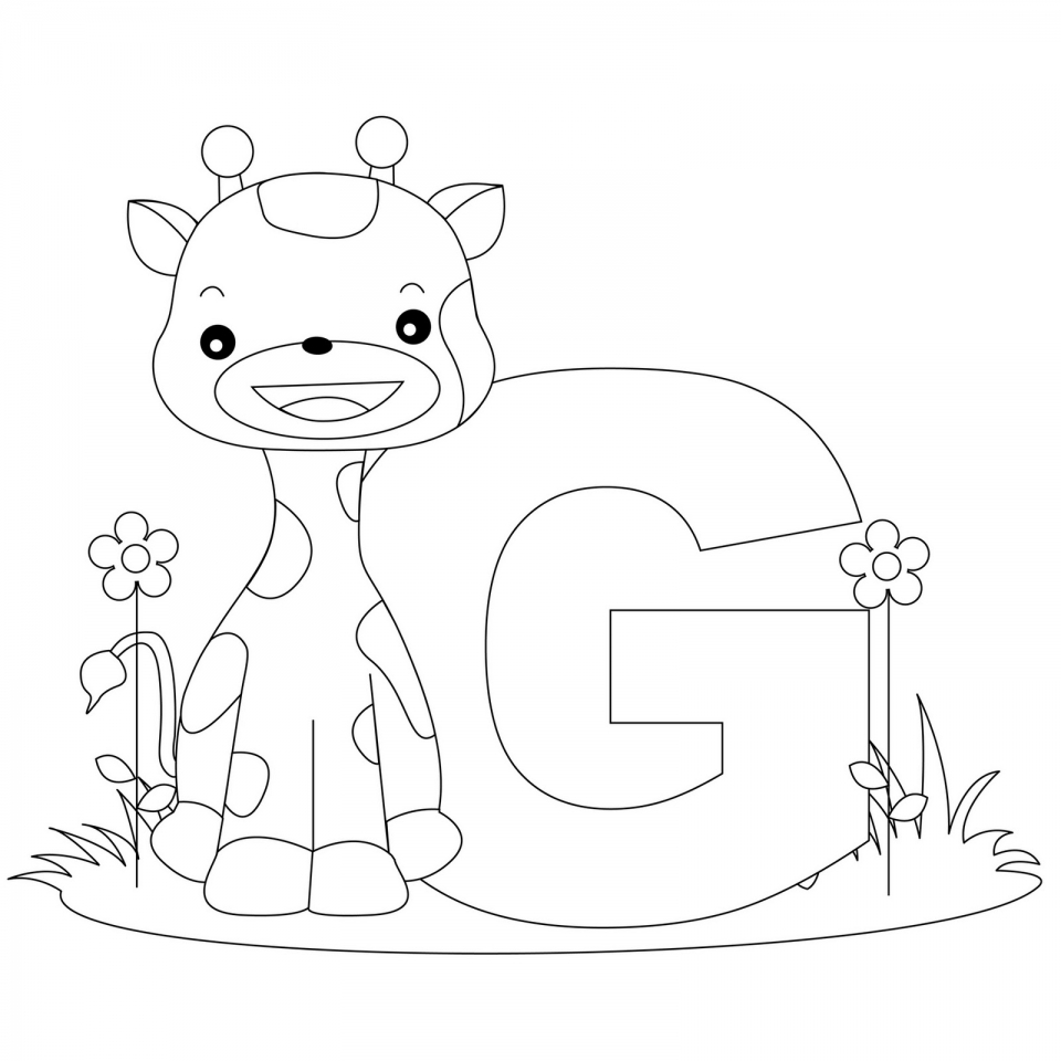 Alphabet Coloring Pages for Kindergarten Students   09673