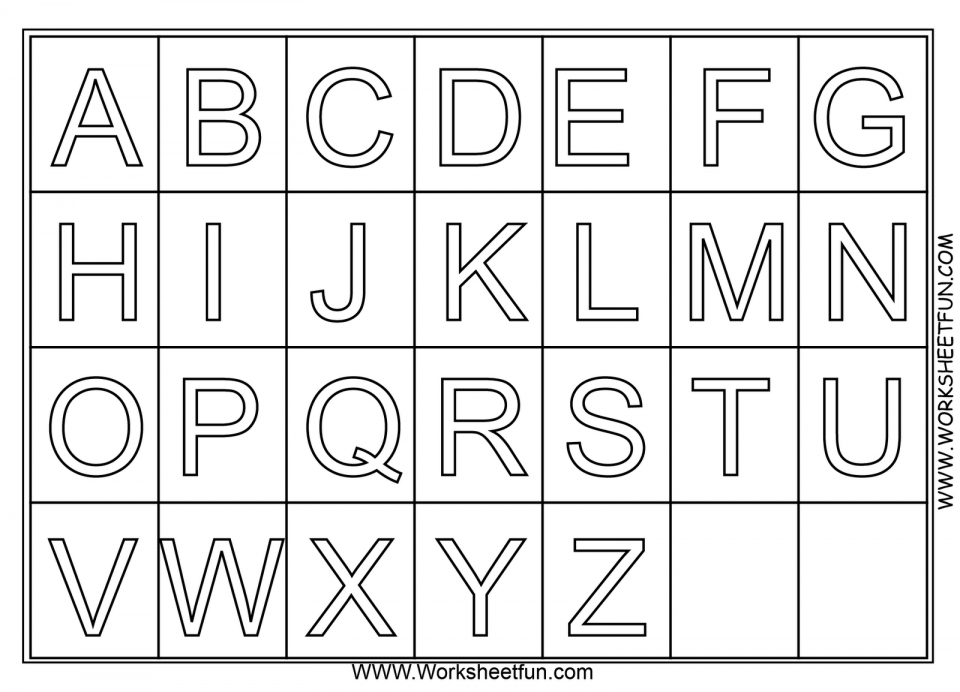 Alphabet Coloring Pages For Kindergarten Students 69071
