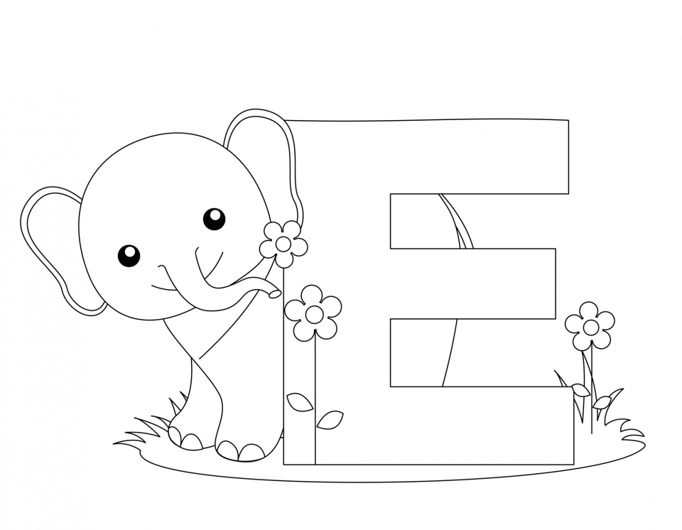 Alphabet Coloring Pages to Print for Kids   75612