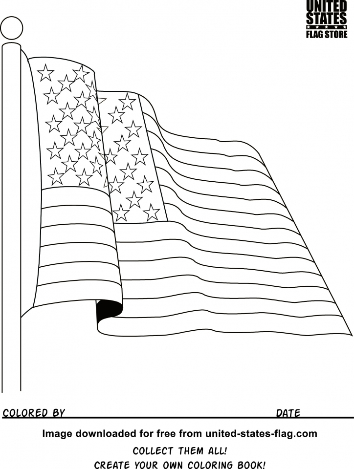 American Flag Coloring Pages Printable   78532