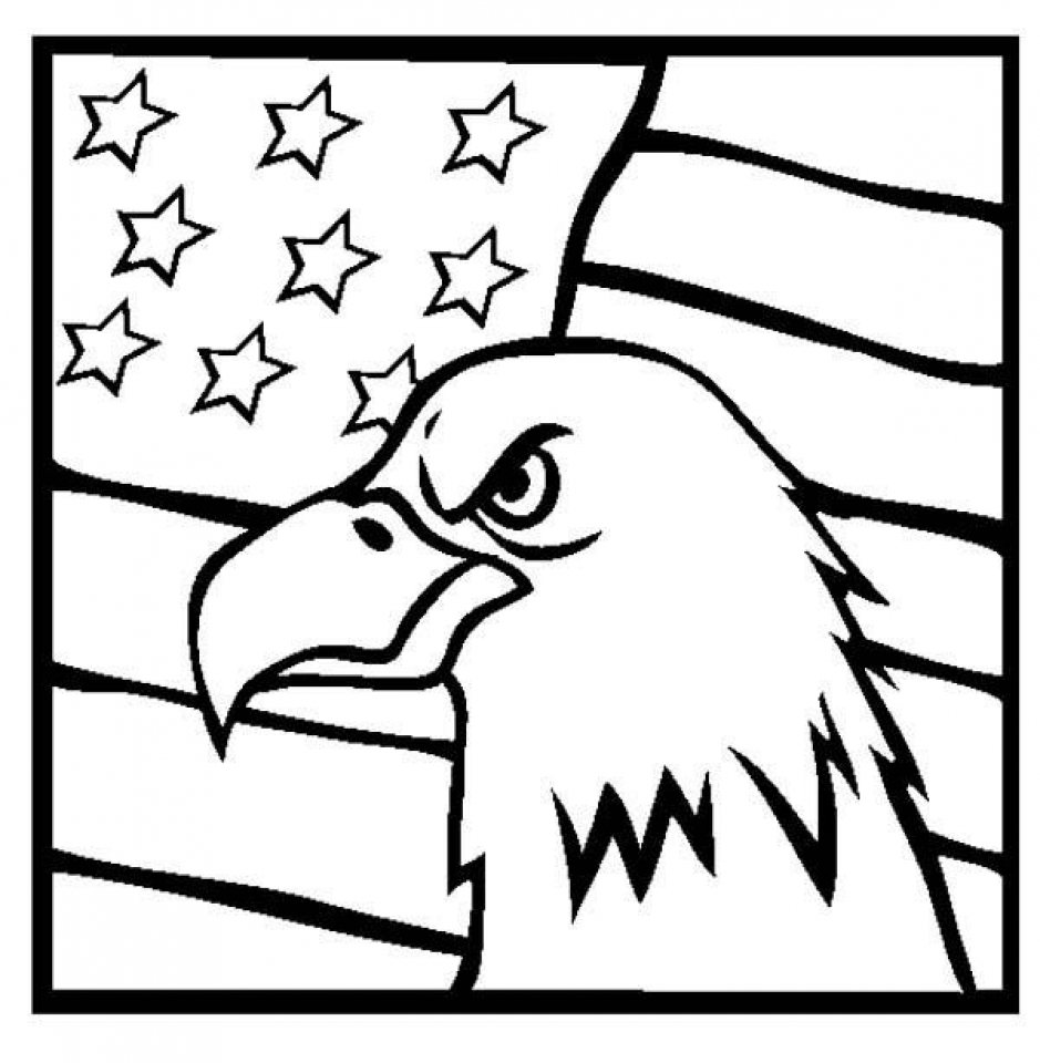 Get This American Flag Coloring Pages to Print for Kids 91846