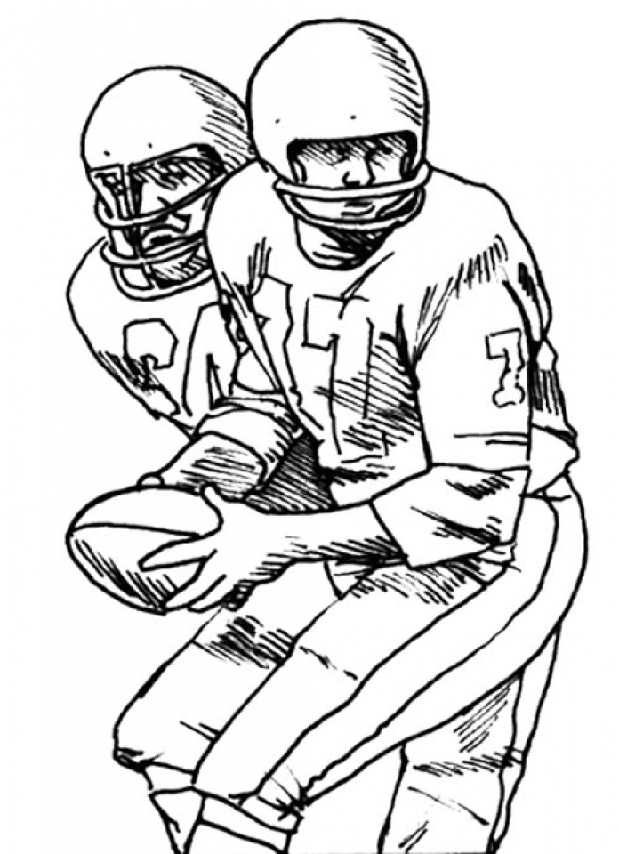 Get This American Football Player Coloring Pages to Print