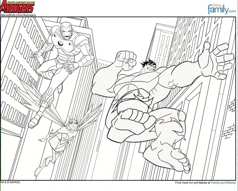 Avengers Coloring Pages Free to Print   89642