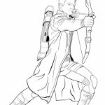 Avengers Coloring Pages Hawkeye   87631
