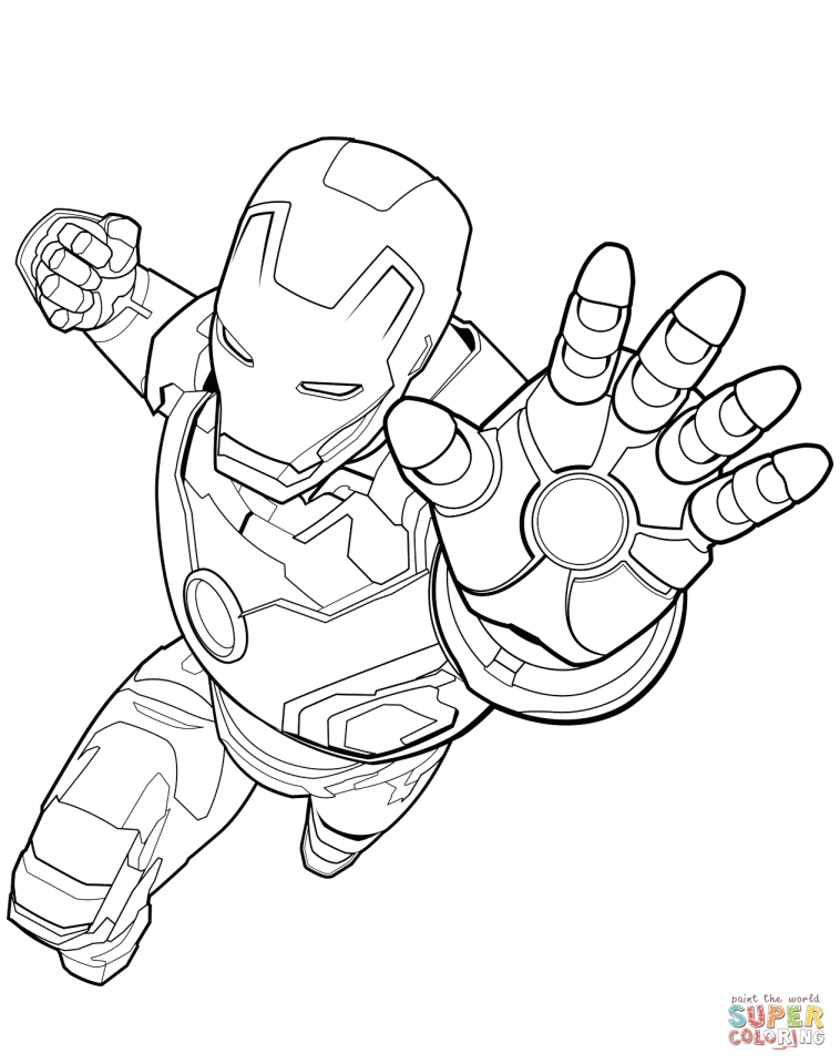 Avengers Coloring Pages Iron Man for Boys   89431