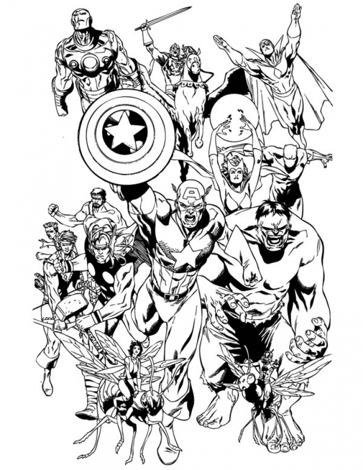 Coloring Pages Of Marvel Avengers : Little heros marvel free coloring pages