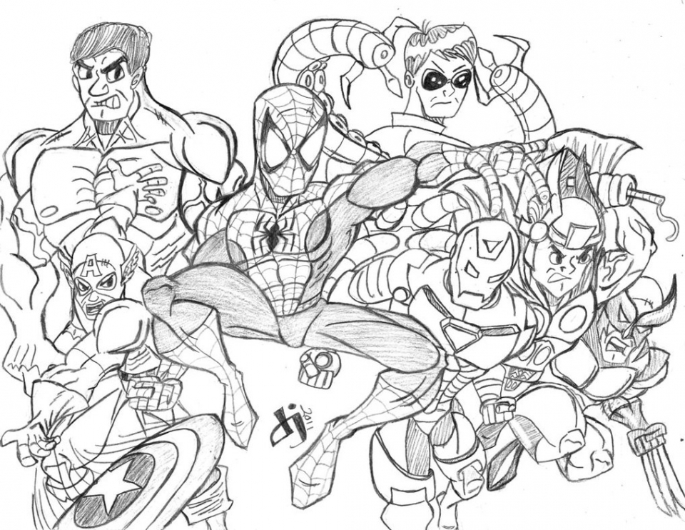 Get This Avengers Coloring Pages online printable 87531